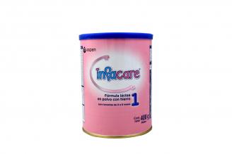Infacare 1 Fórmula Láctea En Polvo Con Hierro Para Lactantes De 0 A 6 Meses Tarro Con 400 g