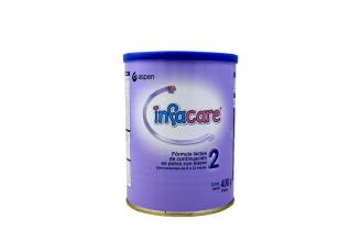 Infacare 2 Fórmula Láctea En Polvo Con Hierro Para Lactantes De 6 A 12 Meses Tarro Con 400 g