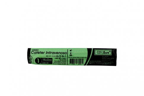 Catéter Intravenoso AlfaSafe 18G X 1 ¼ Empaque Con 1 Unidad