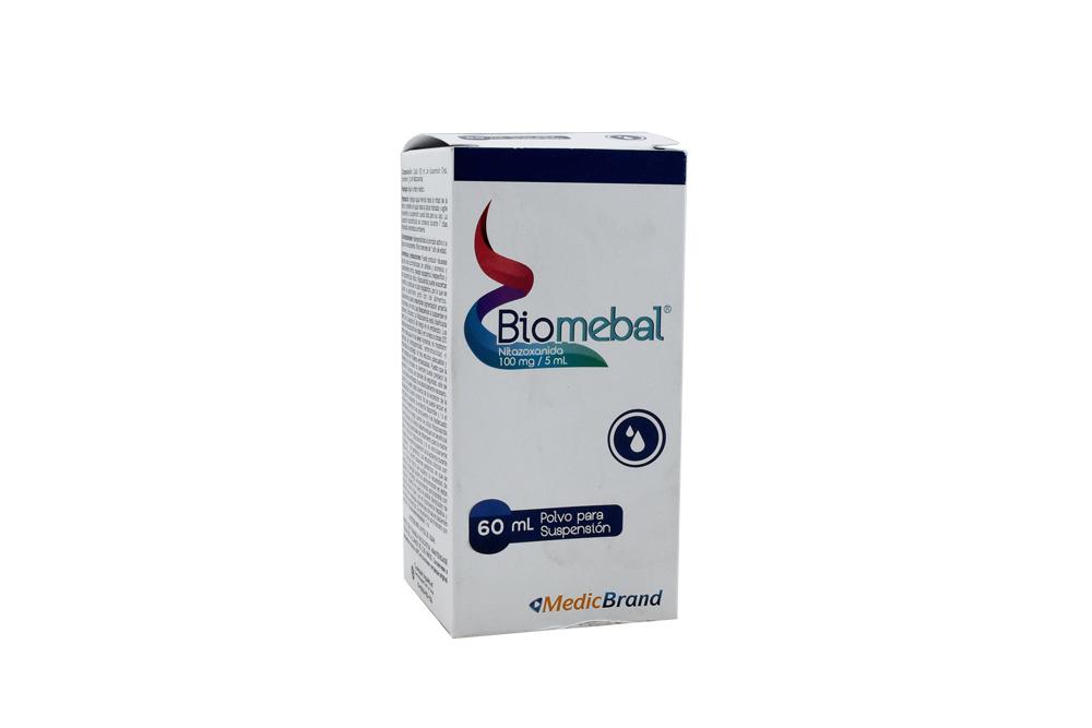 Biomebal 100 mg / 5 mL Polvo Para Suspensión Caja Con Frasco Con 60 mL Rx