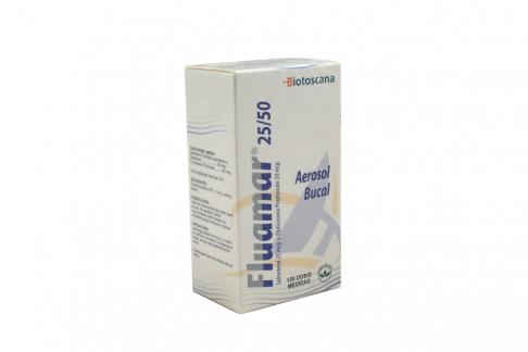 Fluamar 25 / 50 mcg Aerosol Bucal Caja Con Frasco Con 120 Dosis Medidas Rx