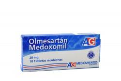 Olmesartán Medoxomil 20 mg Caja Con 10 Tabletas Rx4