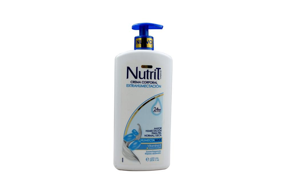 Crema Corporal Nutrit Extra Humectación Frasco Con 620 mL