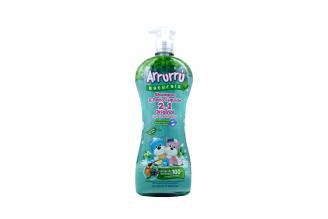 Arrurrú Naturals Shampoo & Baño Líquido Original 2 En 1 Frasco con 800 mL