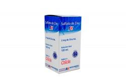 Sulfato De Zinc 2 mg / mL Solución Oral Caja Con Frasco Con 120 mL – Sabor Chicle