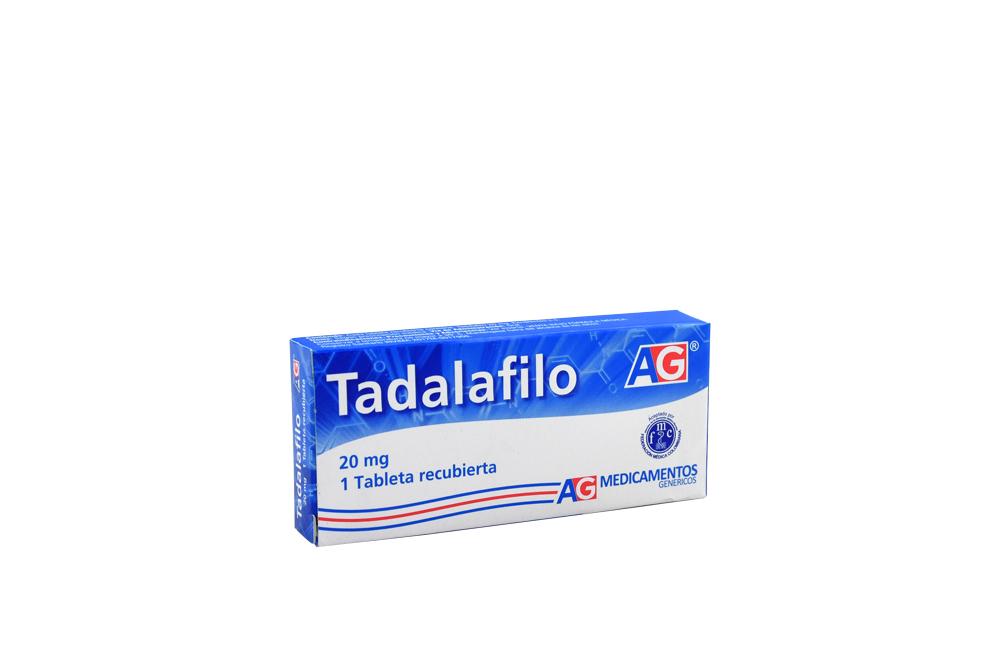 Tadalafilo 20 mg Caja Con 1 Tableta Recubierta Rx
