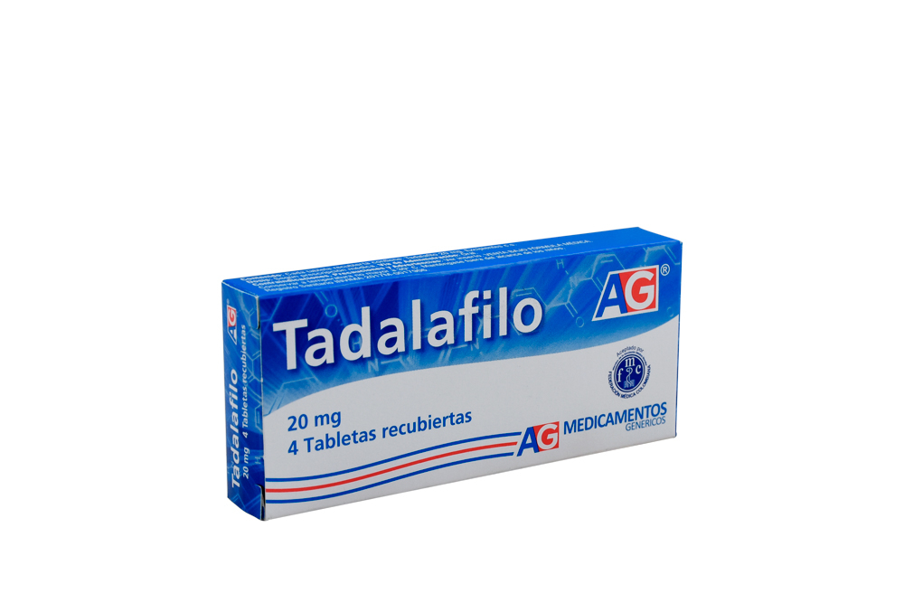 Tadalafilo AG 20 mg Caja Con 4 Tabletas Recubiertas Rx
