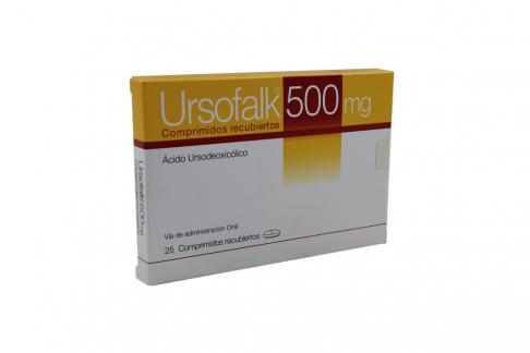 Ursofalk 500 mg Caja Con 25 Comprimidos Recubiertos Rx