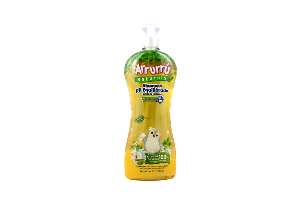 Shampoo Arrurrú Naturals pH Equilibrado Frasco Con 800 mL