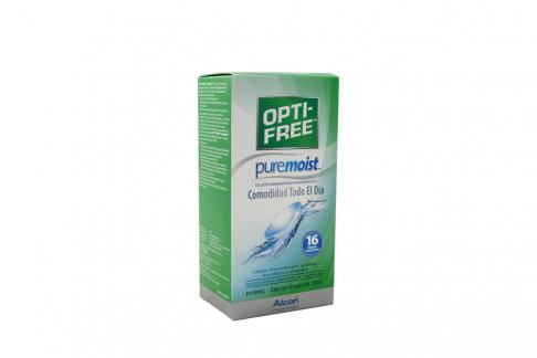 Opti-Free Pure Moist Solución Desinfectante Multiproposito Caja Con Frasco Con 120 mL