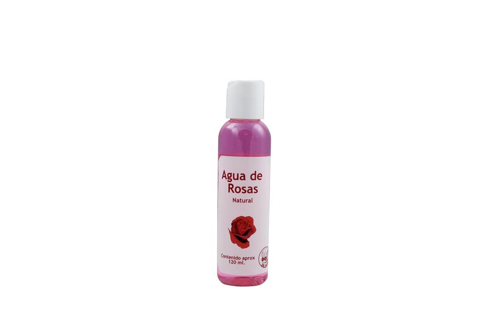 Agua De Rosas Natural Frasco Con 120 mL