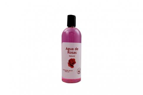 Agua De Rosas Natural Frasco Con 450 mL