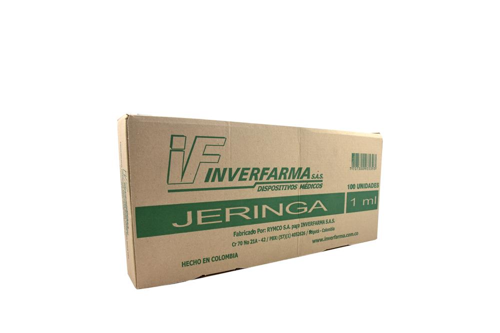 Jeringas Inverfarma 1 mL Caja Con 100 Unidades