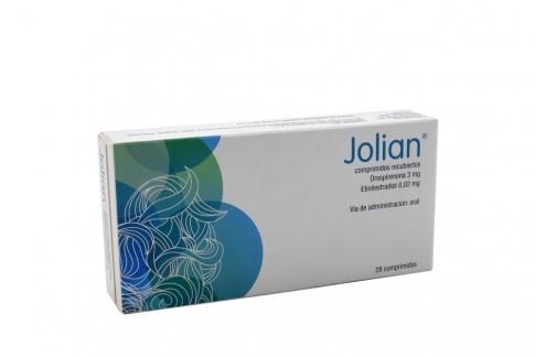 Jolian 3 / 0.02 mg Caja Con 28 Comprimidos Rx
