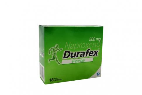 Durafex Forte 500 mg Caja Con 18 Cápsulas Líquidas Rx