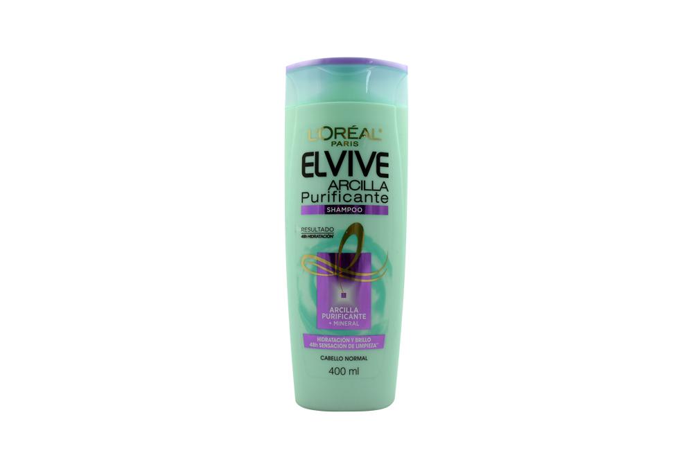 Shampoo Elvive Arcilla Purificante Frasco Con 400 mL – Cabello Normal