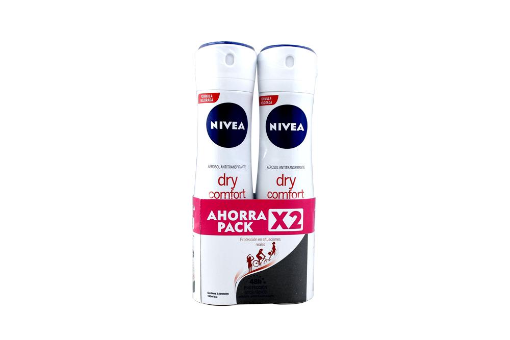 Desodorante Nivea Women Dry Comfort 2 Frascos Con 150 mL C/U