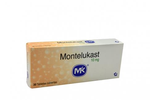 Montelukast 10 mg Caja Con 30 Tabletas Cubiertas Rx