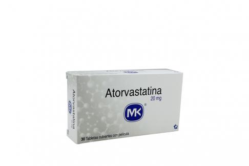 Atorvastatina 20 mg Caja Con 30 Tabletas Cubiertas Con Película Rx Rx4