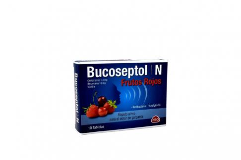 Bucoseptol N Frutos Rojos Caja Con 10 Tabletas