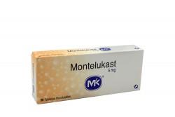 Montelukast 5 mg MK Caja Con 30 Tabletas Masticables Rx