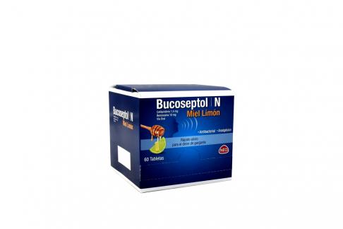 Bucoseptol N 1.4 / 10 mg Miel Limón Caja Con 60 Tabletas