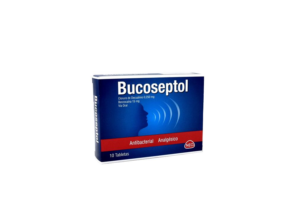 Bucoseptol 0.250 / 15 mg Caja Con 10 Tabletas
