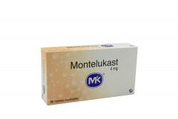 Montelukast 4 mg MK Caja Con 30 Tabletas Masticables Rx
