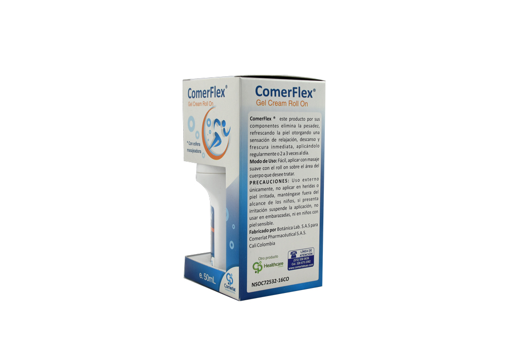 Comerflex Gel Cream Roll On Caja Con Frasco 50 mL