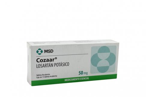 Cozaar 50 mg Caja Con 15 Tabletas Recubiertas Rx Rx4