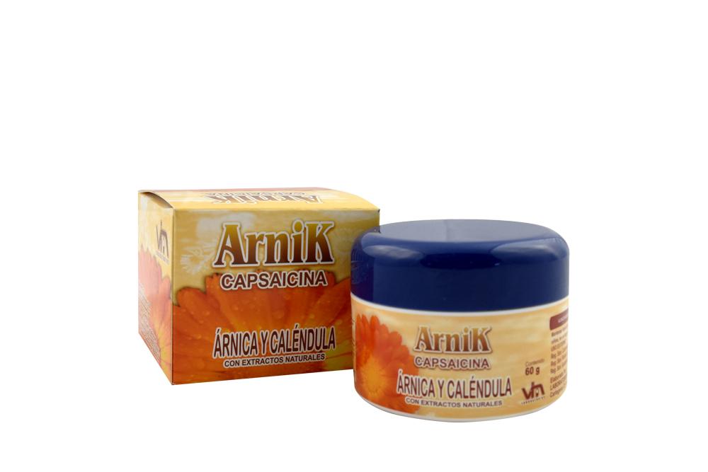 Crema Arnik Capsaicina Caja Con Frasco Con 60 g