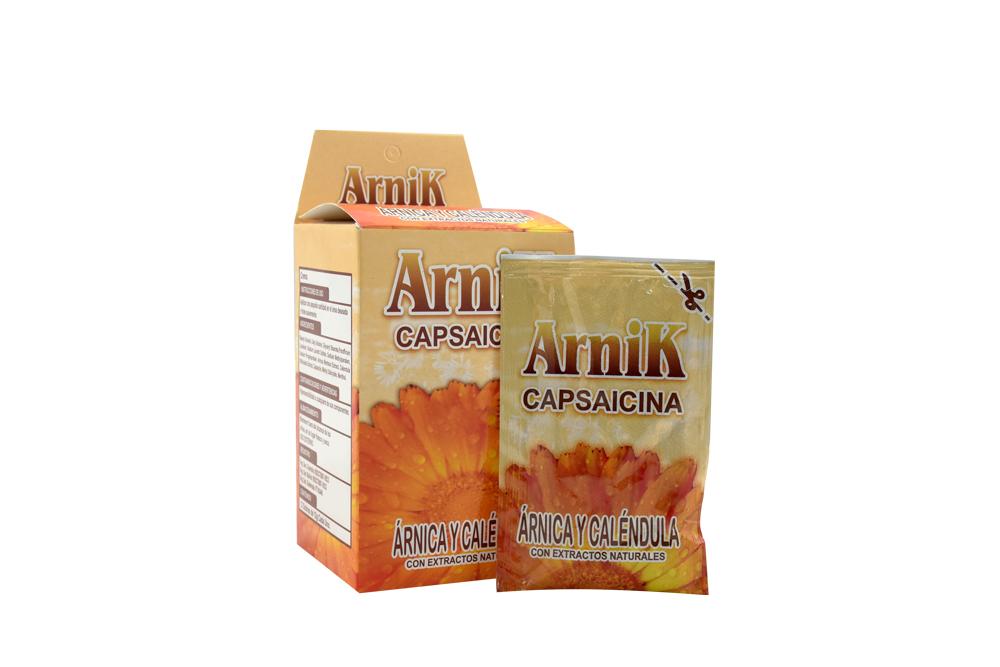 Crema Arnik Capsaicina Caja Con 12 Sobres Con 12 g C/U