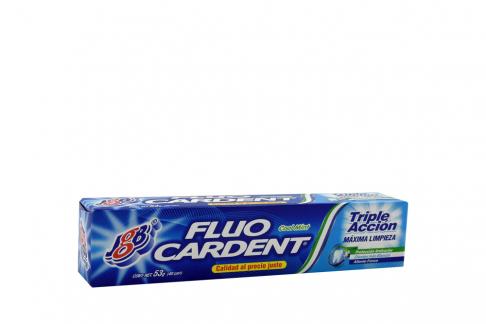 Crema Dental Fluocardent Triple Acción Caja Con Tubo Con 53 g