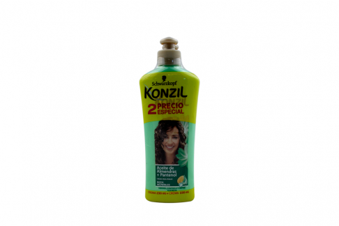 Crema Para Peinar Konzil Aceite De Almendras + Pantenol Empaque Con 2 Frascos Con 230 mL C/U