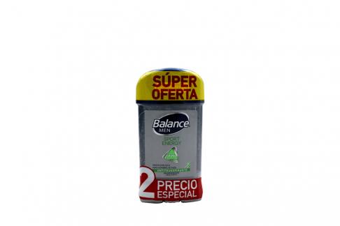 Desodorante Balance Cool Men Gel Sport Energy Empaque Con 2 Unidades