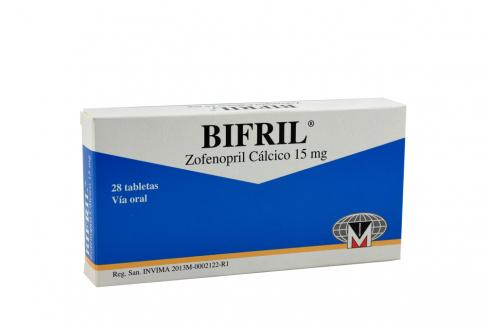 Bifril 15 mg Caja Con 28 Tabletas Rx Rx4