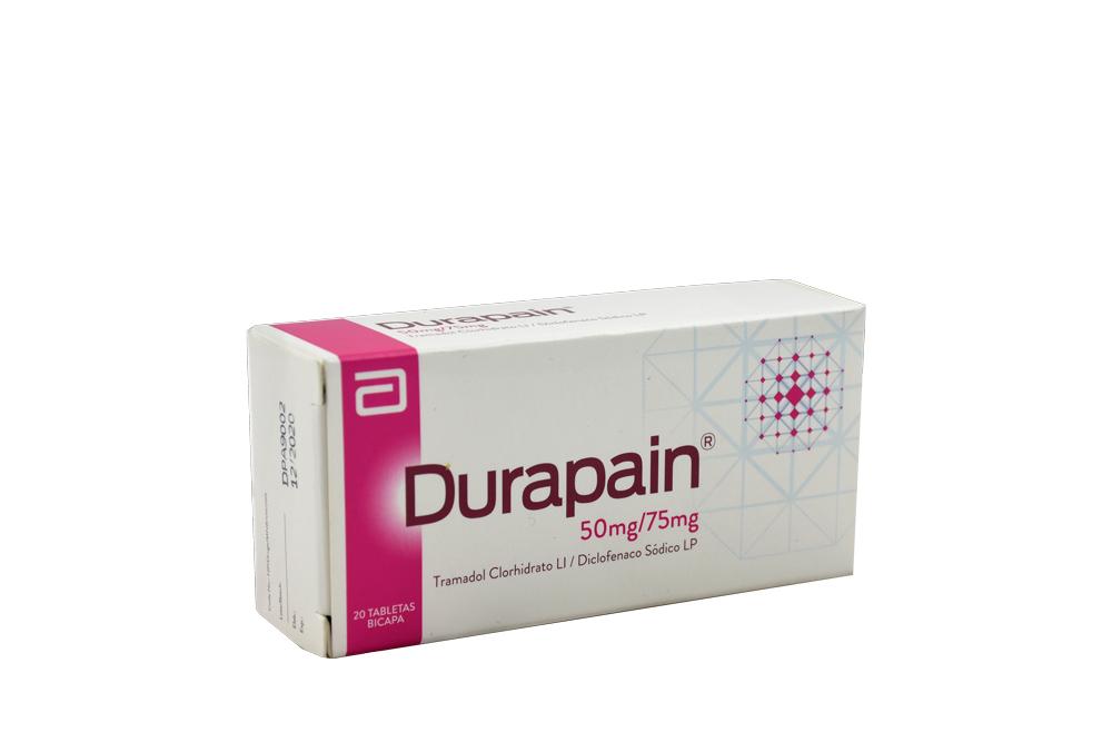 Durapain 50 + 75 Mg Caja Con 20 Tabletas Rx