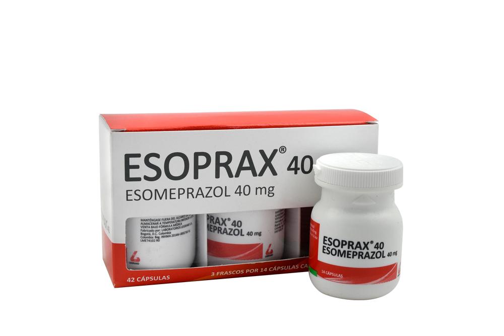 Esoprax 40 Mg Caja Con 3 Frascos Con 14 Cápsulas Rx