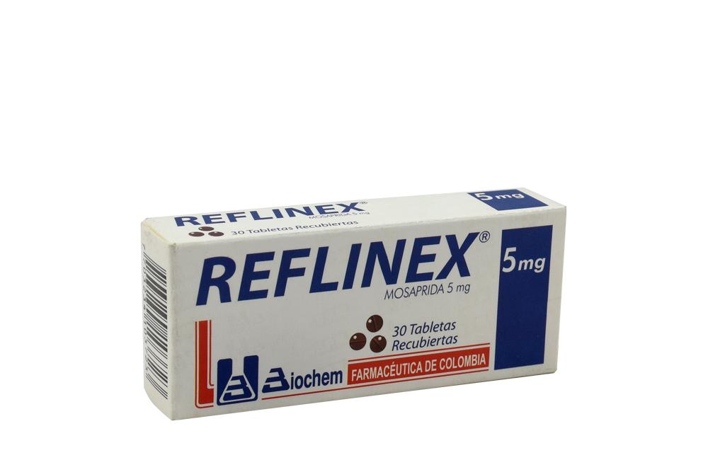Reflinex 5 mg Caja Con 30 Tabletas Recubiertas Rx