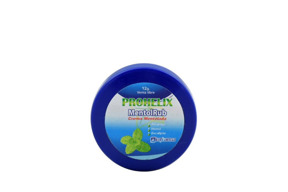 Prohelix Mentol Rub Empaque Con 12 g