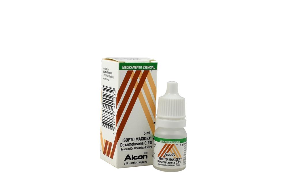 Isopto Maxidex Suspensión Oftálmica 0.1% Caja Con Frasco Con 5 mL Rx