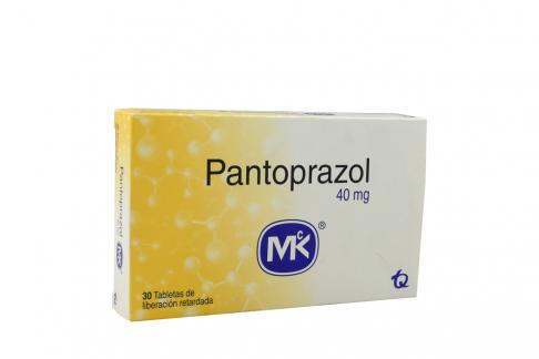 Pantoprazol 40 mg Caja Con 30 Tabletas Rx Rx4