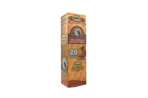 Megalyptus Sabor Naranja Caja Con 20 Sobres
