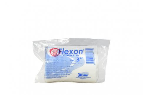 """Venda Fija Color Blanco Flexon 3"""" x 200 cm Empaque Con 1 Unidad"""