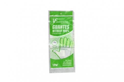 Guantes De Nitrilo Color Verde Talla L Empaque Con 2 Unidades
