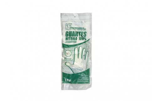 Guantes De Nitrilo Color Blanco Talla L Empaque Con 2 Unidades