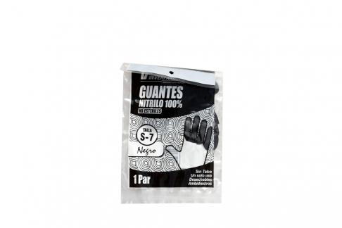 Guantes De Nitrilo Color Negro Talla S Empaque Con 2 Unidades