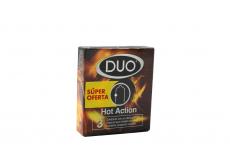 Condones Duo Hot Action Caja Con 3 Unidades