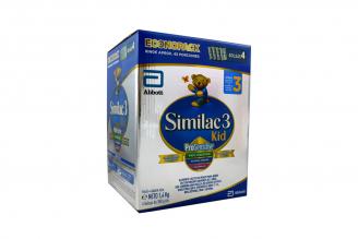 Similac 3 Kid Alimento Lácteo En Polvo 2 Años En Adelante Caja Con 4 Bolsas Con 350 g C/U