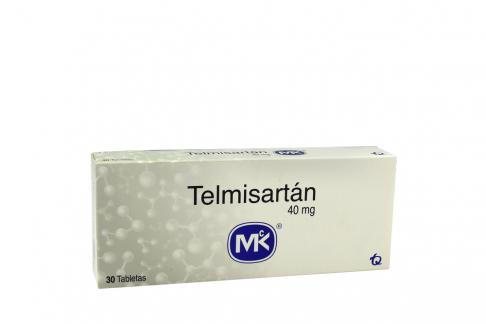 Telmisartán 40 mg Caja Con 30 Tabletas Rx